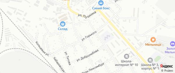 Площадка 2-я Горького на карте Белогорска с номерами домов