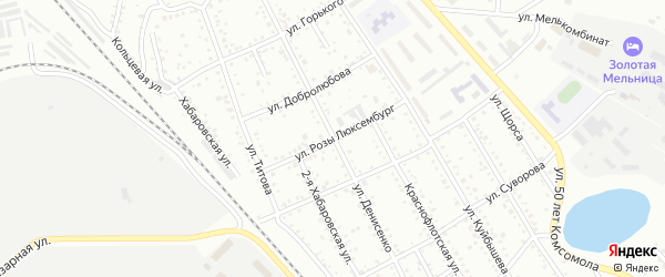 Улица Люксембург на карте Белогорска с номерами домов