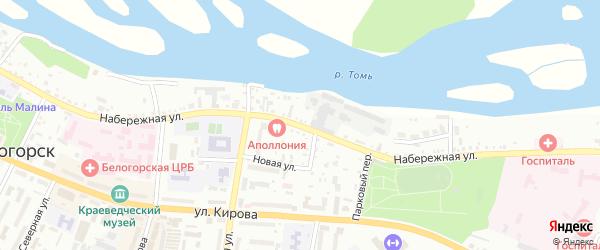 Набережная улица на карте Белогорска с номерами домов