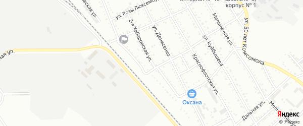 2-я Хабаровская улица на карте Белогорска с номерами домов