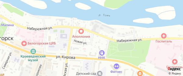 Набережный переулок на карте Белогорска с номерами домов