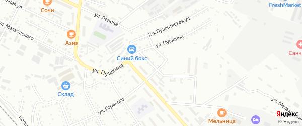 Мельничный переулок на карте Белогорска с номерами домов
