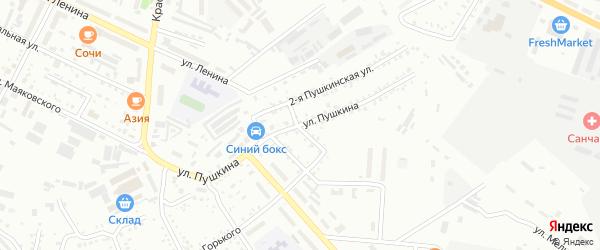 Улица Пушкина на карте Белогорска с номерами домов