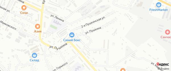 Юго-Восточный переулок на карте Белогорска с номерами домов