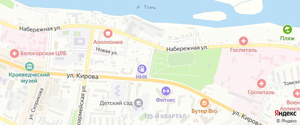 Парковый переулок на карте Белогорска с номерами домов