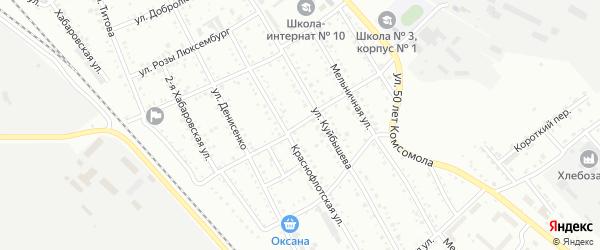 Площадка Суворова на карте Белогорска с номерами домов