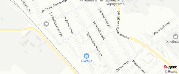 Краснофлотская улица на карте Белогорска с номерами домов