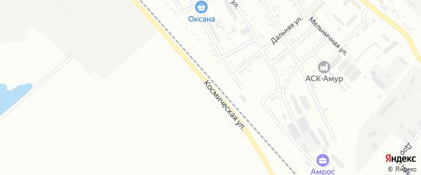 Космическая улица на карте Белогорска с номерами домов