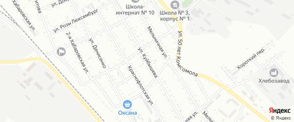 Улица Куйбышева на карте Белогорска с номерами домов
