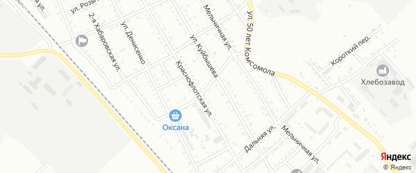 Улица Некрасова на карте Белогорска с номерами домов