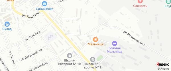 Улица Мелькомбинат на карте Белогорска с номерами домов