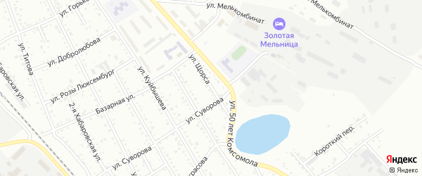 Улица Щорса на карте Белогорска с номерами домов