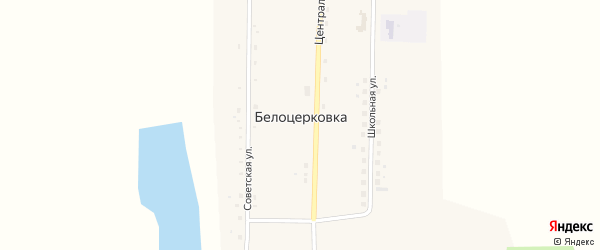 Школьная улица на карте села Белоцерковки с номерами домов