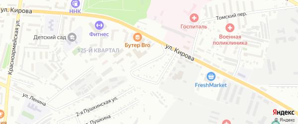 Госпитальный переулок на карте Белогорска с номерами домов
