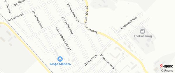 Мельничная улица на карте Белогорска с номерами домов