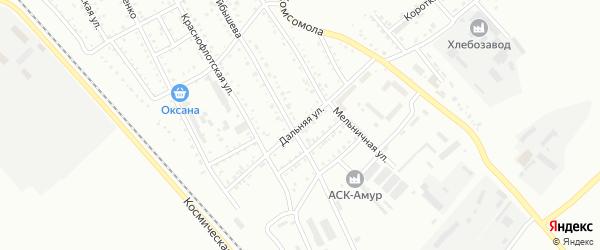 Дальняя улица на карте Белогорска с номерами домов