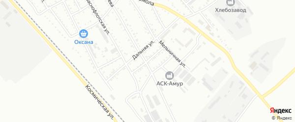 Придорожный переулок на карте Белогорска с номерами домов