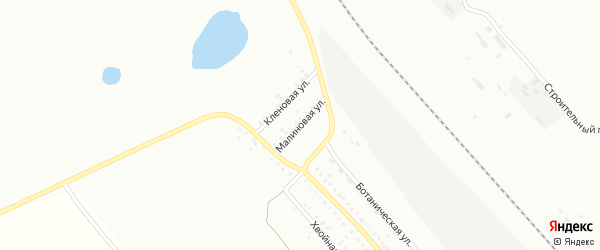 Малиновая улица на карте Белогорска с номерами домов