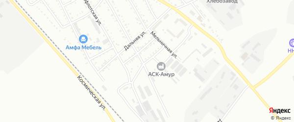 Задорожный переулок на карте Белогорска с номерами домов