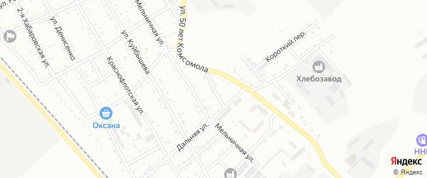Дальний переулок на карте Белогорска с номерами домов
