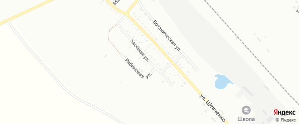 Хвойная улица на карте Белогорска с номерами домов