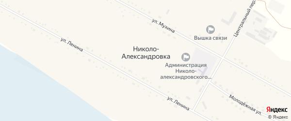Молодежная улица на карте села Николо-Александровки с номерами домов