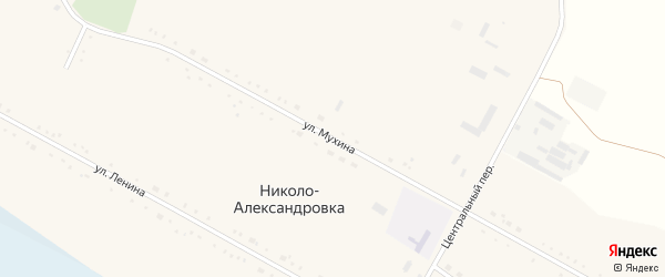 Улица Мухина на карте села Николо-Александровки с номерами домов