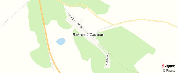 Карта села Ближнего Сахалина в Амурской области с улицами и номерами домов