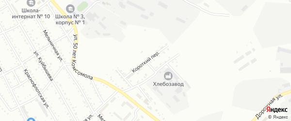 Короткий переулок на карте Белогорска с номерами домов