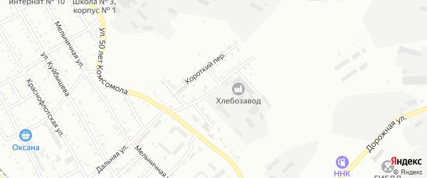 Краснобульварный переулок на карте Белогорска с номерами домов
