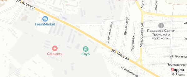 Улица Кирова на карте Белогорска с номерами домов