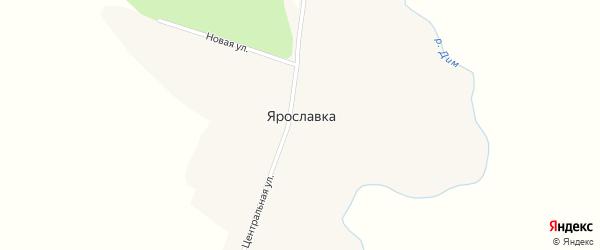 Центральная улица на карте села Ярославки с номерами домов