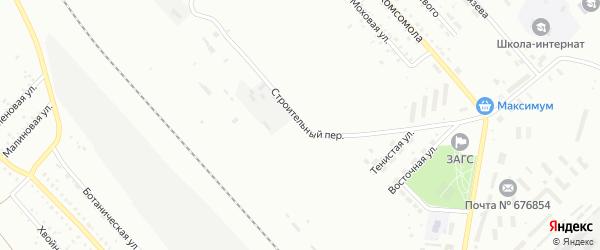 Строительный переулок на карте Белогорска с номерами домов