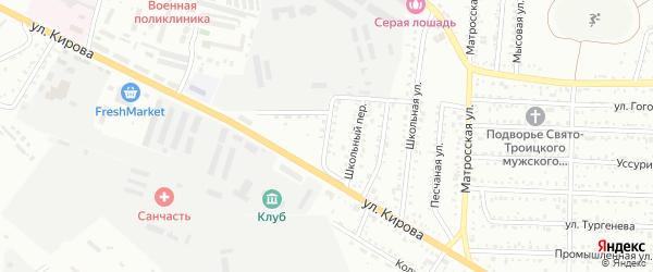 Учительский переулок на карте Белогорска с номерами домов
