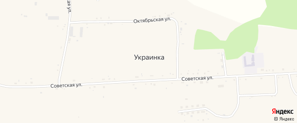 Юбилейная улица на карте села Украинки с номерами домов