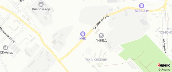 Дорожная улица на карте Белогорска с номерами домов