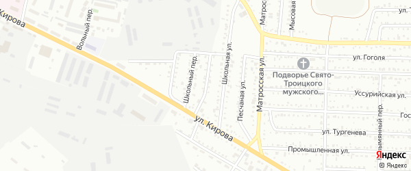 Карьерный проезд на карте Белогорска с номерами домов