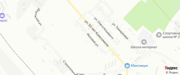 Моховая улица на карте Белогорска с номерами домов