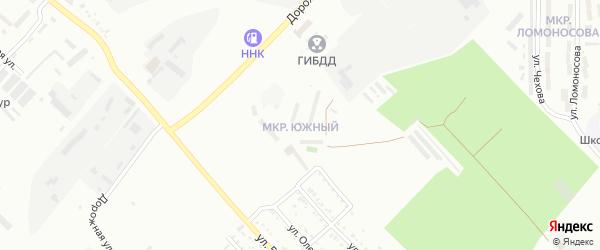 Южный микрорайон на карте Белогорска с номерами домов