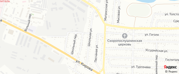 Школьная улица на карте Белогорска с номерами домов