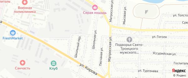 Школьная улица на карте Низинного села с номерами домов
