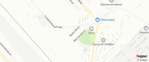 Тенистая улица на карте Белогорска с номерами домов