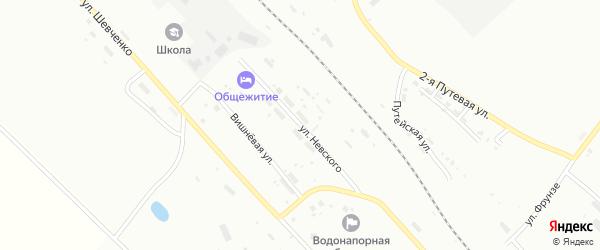 Улица Невского на карте Белогорска с номерами домов
