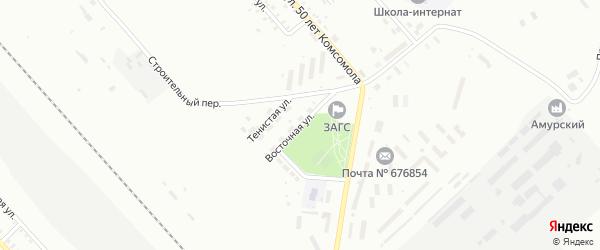 Восточная улица на карте Белогорска с номерами домов