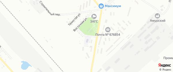 Тополиный переулок на карте Белогорска с номерами домов