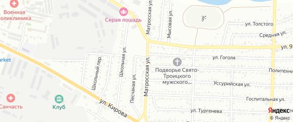 Матросская улица на карте Белогорска с номерами домов