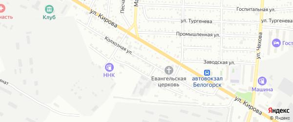 Колхозная улица на карте Белогорска с номерами домов