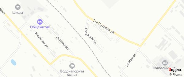 Путейская улица на карте Белогорска с номерами домов