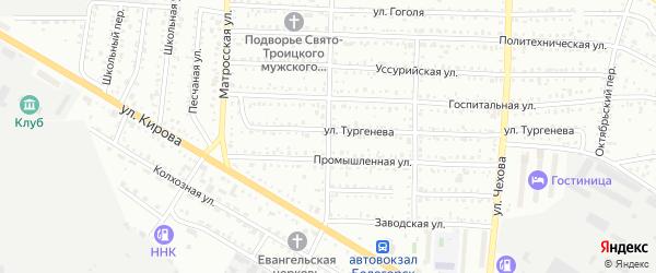 Сельская улица на карте Белогорска с номерами домов