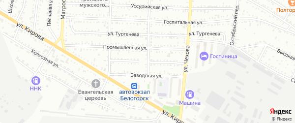 Улица Лермонтова на карте Белогорска с номерами домов